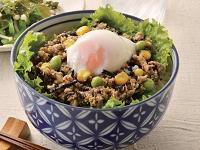 生活提案、レシピ、献立、ひじきと枝豆の味噌そぼろ丼、1424