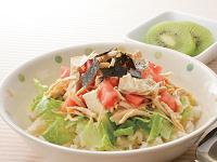生活提案、レシピ、献立、ささみと崩し豆腐のサラダ丼、1418