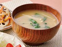 生活提案、レシピ、献立、春菊ときのこのお味噌汁、1437