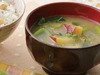 生活提案、レシピ、献立、さつま芋と小松菜のお味噌汁、1408