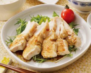 生活提案、レシピ、献立、ゆで鶏の山葵オイルソースがけ、1439