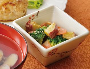 生活提案、レシピ、献立、ブロッコリーとさつま芋の春色サラダ、1502