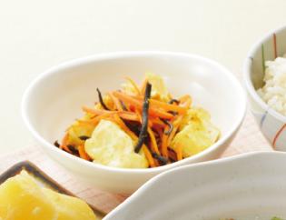 生活提案、レシピ、献立、人参と豆腐のカレー炒め、1445