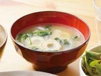 生活提案、レシピ、献立、ツルムラサキとちくわの味噌汁、1518