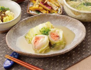 生活提案、レシピ、献立、鮭の中華風ロール白菜、1441