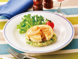 生活提案、レシピ、献立、鶏ヒレのソテー~グリーンマッシュポテト添え~、1501