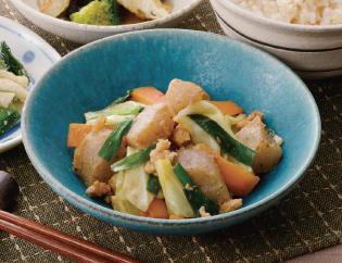 生活提案、レシピ、献立、こんにゃくとたっぷり野菜の甘辛味噌炒め、1413
