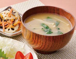 生活提案、レシピ、献立、春菊ときのこのお味噌汁、1437号