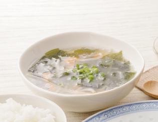 生活提案、レシピ、献立、昼食、もやしとわかめのとりがらスープ
