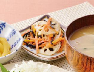 生活提案、レシピ、献立、ひじきと根菜のごま酢和え、1437号