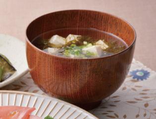 生活提案、レシピ、献立、もずくと豆腐のお吸い物、1420