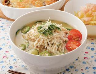 生活提案、レシピ、献立、夏野菜とササミの冷や汁、1423