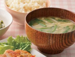 生活提案、献立、レシピ、きのことニラのお味噌汁