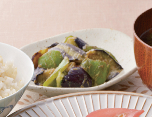 生活提案、レシピ、献立、茄子とピーマンの味噌炒め、1420