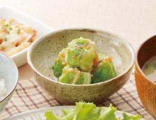 生活提案、レシピ、献立、くるくる野菜の玉ねぎドレッシング、1345