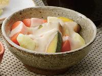 生活提案、レシピ、献立、蒸し野菜-ヨーグルトソース、1402