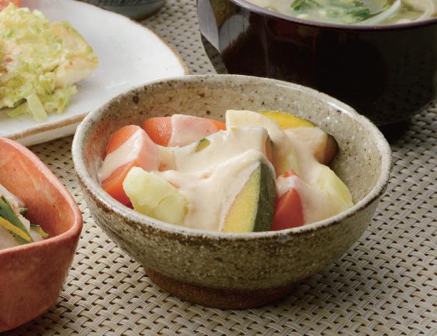 生活提案、レシピ、献立、蒸し野菜 ヨーグルトソース、1402