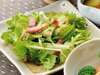 生活提案、レシピ、献立、緑野菜のホットサラダ、1403