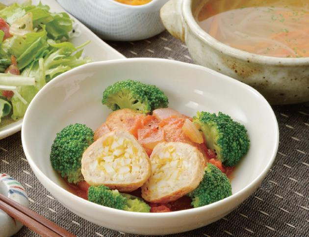 生活提案、レシピ、献立、たまご入り鶏だんご トマト煮込み、1403