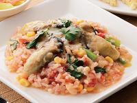 生活提案、レシピ、献立、牡蠣と野菜の真っ赤なリゾット、1346