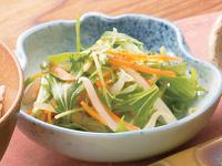 生活提案、レシピ、献立、しゃきしゃき野菜の3色和え、1352