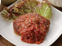 生活提案、レシピ、献立、レバーグ~トマトソースがけ~、1335