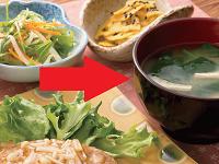 生活提案、レシピ、献立、ほうれん草と油揚げのお味噌汁、1352