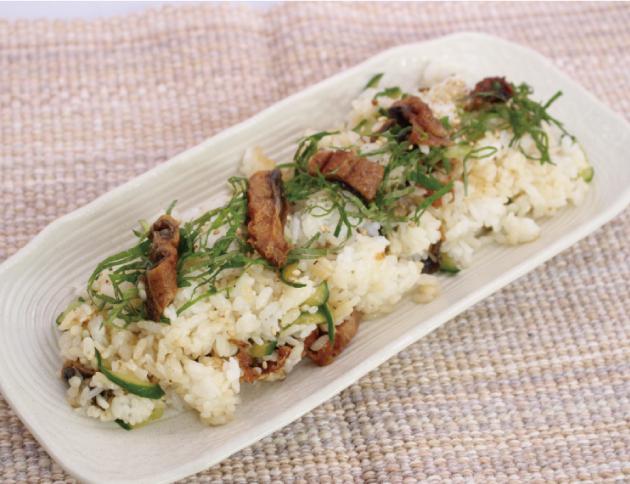 生活提案、レシピ、献立、うなぎときゅうりの混ぜ寿司、1520