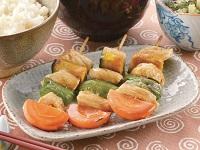 生活提案、レシピ、献立、野菜を食べる!カラフル焼き鳥、1526
