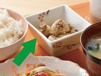 生活提案、レシピ、献立、里芋のはちみつ胡麻和え2、1532