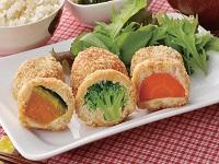 生活提案、レシピ、献立、しょうが風味の3色野菜フライ、1536