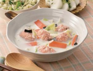 生活提案、レシピ、献立、ざくざく鮭団子のカルシウムたっぷりスープ、1548