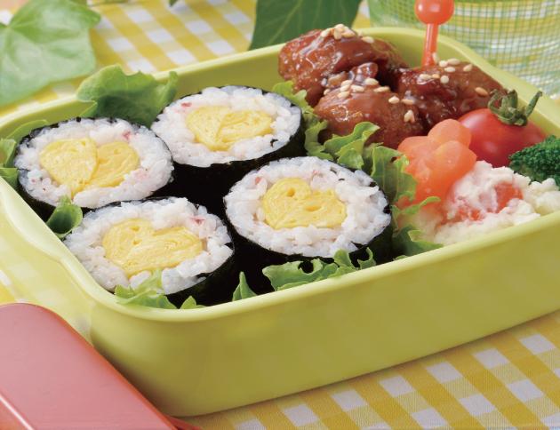 生活提案、レシピ、献立、さっぱり梅味たまご巻き、卵、細巻き、巻き寿司、弁当