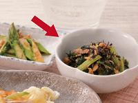 生活提案、レシピ、献立、ひじきと小松菜のさっぱり煮、1607