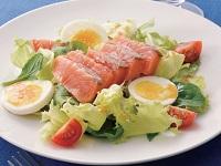 生活提案、レシピ、献立、サーモンコンフィと卵の満腹サラダ、1614