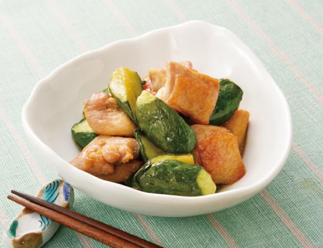 生活提案、レシピ、献立、鶏肉と干しきゅうりのさっぱり炒め、1625