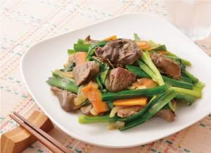 生活提案、レシピ、献立、鶏レバー甘辛焼きで簡単レバニラ、秋川牧園、冷凍食品、鶏レバー、レバニラ、健康、アレンジ