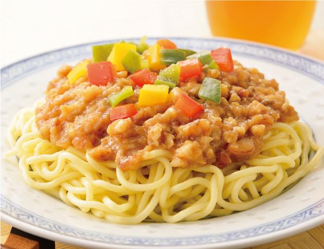 生活提案、レシピ、献立、鶏ごぼうジャージャー麺、冷凍食品、ジャージャー麺、1724