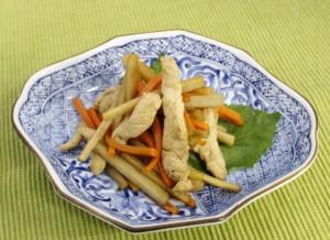 生活提案、レシピ、献立、ささみきんぴら、秋川牧園、健康、たんぱく質、きんぴら、鶏肉、ささみ