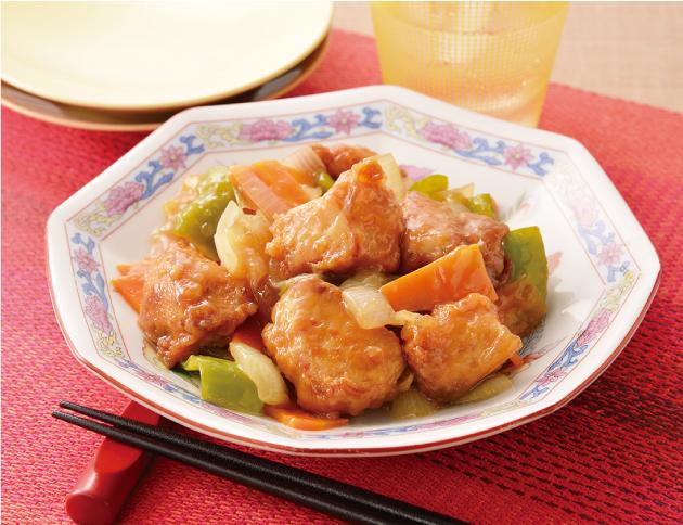 生活提案、レシピ、献立、はちみつ入りまろやか黒酢鶏、黒酢、酢鶏、酢豚アレンジ、1724