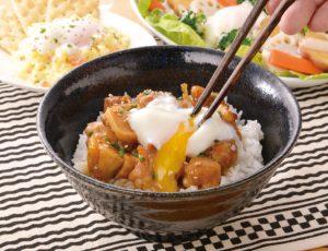 生活提案、レシピ、献立、てりやき親子丼、1740、秋川牧園