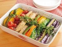 生活提案、レシピ、献立、鶏と夏野菜の揚げ浸し、1726、秋川牧園、揚げ浸し、手羽中、手羽先、カラフル野菜