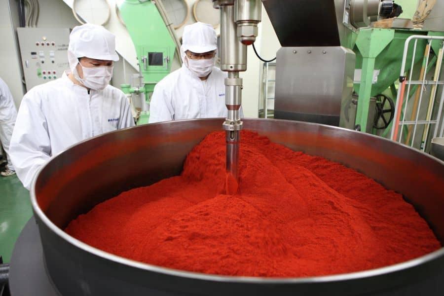 トウガラシの製造工程